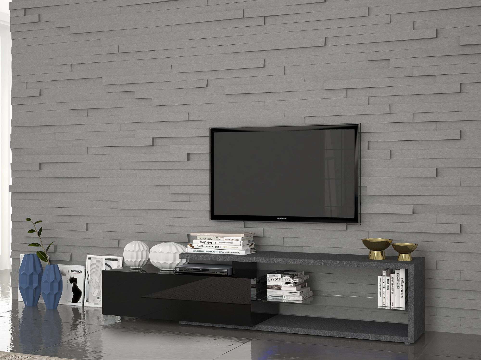 Meuble tv original conceptions de maison for Meuble tv console